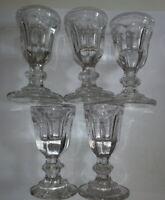 5 verres anciens à liqueurs 8,50 cm hauteur
