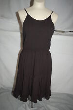 f0eb25023d Junior Womens SIMPLE BLACK SUMMER DRESS Sleeveless SMOCKED TOP Ruffle SIZE  XL