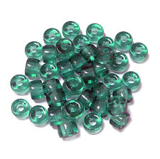 Teal 100pc Czech Czechoslovakian Glass 9x6mm Crow Pony Bead Free Shipping