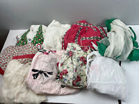 Vtg Apron Lot of 9 Half Holidays Floral Sheers Cotton Linen Cottagecore