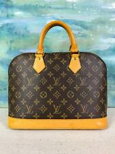 $1500 LOUIS VUITTON Monogram Brown Alma PM Coated Canvas Satchel Hand Bag Sale!