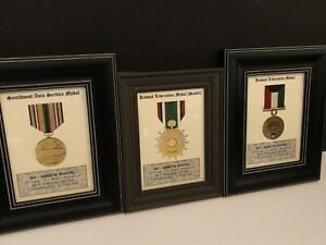 3 MEDAL PRINTS / 5x7 Operation Desert Shield - Desert Storm w/Free Printing