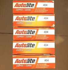 LOT OF 20 AUTOLITE 404 COPPER RESISTOR SPARK PLUG