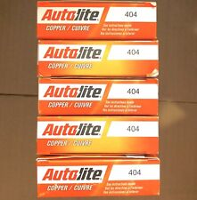 LOT OF 5 PACK OF 4 AUTOLITE 404 COPPER RESISTOR SPARK PLUG
