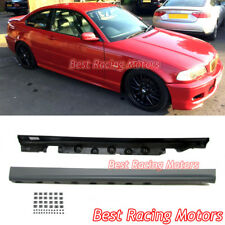 M-Tech Style Side Skirts (PP) Fits 00-06 BMW E46 2dr 3-Series