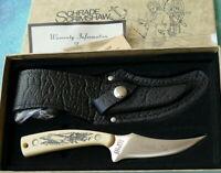 SCHRADE USA Scrimshaw Sharpfinger Knife 152SC - NEW 1976 Moby Dick Whaler 152OT