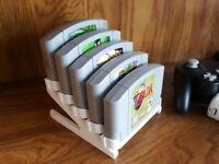 Nintendo 64 N64 Game Cartridge Holder Display Stand