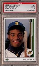 Ken Griffey Jr. HOF 1989 Upper Deck #1 Rookie Card rC PSA 9 Mint QUANTITY