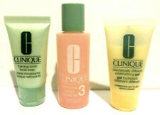 CLINIQUE CLARIFYING LOTION + FACIAL SOAP + MOISTURIZING GEL GIFT SET OF 3 NEW