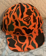 Orange Camouflage Hunting Hat, EUC