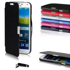 Klapptasche für Apple Samsung Sony HTC Slim Flip Case Schutz Hülle Handy Tasche