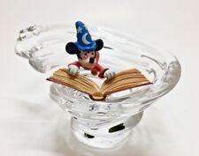 Disney Fantasia Mickey Mouse Crystal Figurine Franklin Mint Mickey's Magic Coa