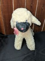 "Vintage Trudy Toys WHITE LAMB SHEEP with tag 11"" Beige White Collectible"