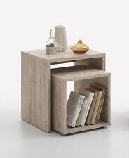 2er Set Beistelltisch Ablagetisch Tisch Design F621-001 Sandeiche