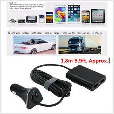4-Port Caricabatterie USB Auto Anteriore Sedile Posteriore Adattatore 9.6A per dispositivi elettronici telefono
