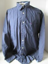 Vtg Tommy Hilfiger Jeans Blue Button Down Shirt Large Spell Out size Xl