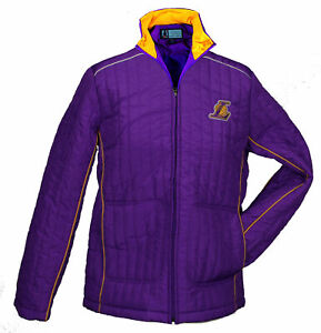 G-III Sports NBA Women's Los Angeles Lakers Players Zip Up Jacket Coat, Purple