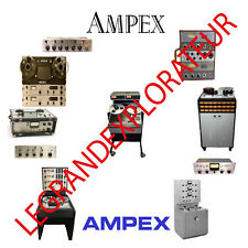 Ultimate  Ampex  Operation  Repair Service manual & Schematics    350 PDF on DVD
