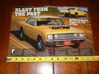 1968 DODGE LIGHTWEIGHT DART FACTORY RACE CAR ORIGINAL 2003 ARTICLE