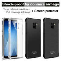 IMAK For Samsung Galaxy A8 /A8+ 2018 Full Cover Shockproof Clear Matte Soft Case