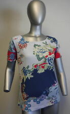 ETRO Floral polyester short sleeve blouse size 40
