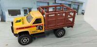 VINTAGE REMCO T-BONE RANCH PICKUP TRUCK DIE-CAST PLASTIC METAL YELLOW CAR 1988