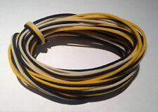 30 Feet Gavitt Pre-tinned Cloth PushBack Guitar Wire 22 awg 10-B/10-W/10-Y TAOT