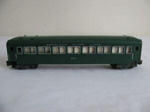 Vintage 1954 American Flyer Lines Green Passenger Coach #955 VG