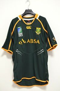 Rugby Union South Africa The Springboks IRB World Cup 2011 Shirt Jersey size L