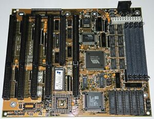 80386DX Motherboard FIC 386-GT with CPU AMD Am386DX-40, 4Mb RAM, 128kb cache