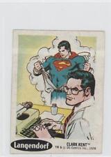 1978 Langendorf DC Super Hero Stickers Food Issue Base #3 Clark Kent Card 0s4