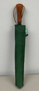 """NEW Compact 60"""" Rainkist Umbrella Automatic Opening Wind resistant Green/White"""