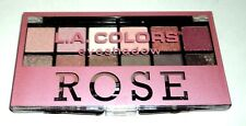 L.A. COLORS Eyeshadow Palette 12 Shades  ROSE Tips Back Of Compact Sealed