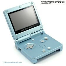 Nintendo GameBoy Advance - Konsole GBA SP #Arctic Blue / blau + Stromkabel