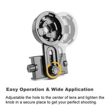 Cell Phone Adapter Mount Binocular Monocular for Spotting Scope Telescope Ea7X