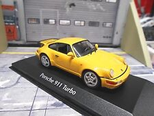 Porsche 911 964 Turbo 1990 Jaune Yellow Minichamps maxichamps 1:43