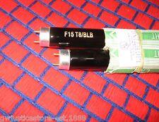 """BOX of 2 ~ new F15T8/BLB fluorescent 18"""" UV 15w black light BULB blacklite glow"""