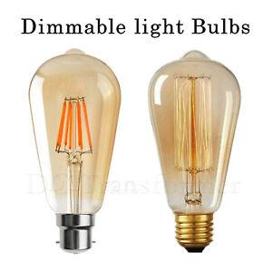 Vintage Filament LED Edison Bulb Amber Lamp E27 Decorative Industrial Light B22