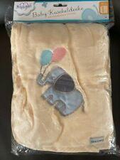KUSCHELDECKE BABYDECKE Kinderdecke DECKE  100x 75 cm beige beauty Baby Softvlies