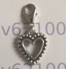 charms argentée coeur 18x15 mm