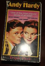 Andy Hardy Boxed Set VHS Triple Pack Mickey Rooney Judy Garland