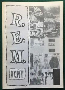 R.E.M. ~ Document Vol 2   UK 150 page scrapbook of press cuttings 1983-1989