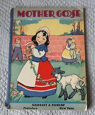 Vintage Mother Goose Nursery Rhymes Book c1940
