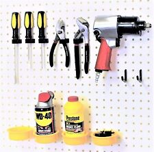 WallPeg 24 Kit - Peg Hooks & Pegboard Bins - Garage Organizer Workbench Storage