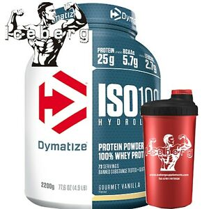 Dymatize Nutrition Iso 100 2.2kg Whey Protein Isolate + Shaker