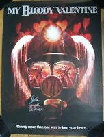 PETER COWPER AUTOGRAPHED MY BLOODY VALENTINE 18X24 MOVIE POSTER THE MINER