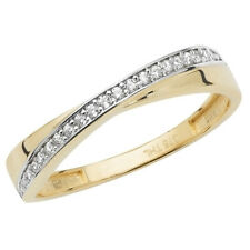 9ct Gold 0.15ct Ladies Eternity / Wedding Ring - Sizes Available - UK Hallmarked