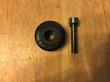 """Ritchey Brand 1"""" Bicycle Headset Top Cap - Black with Bolt - Plastic"""