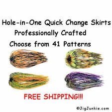 Hole in One Jig Skirts - Bass Musky Pike Spinner/Jig Quick Change Skirts - USA!!