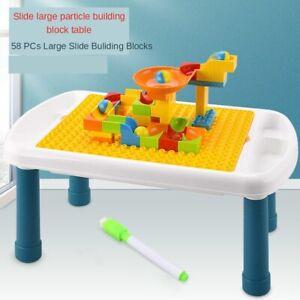 Desk Kids Assembled Building Block Table Set Play Study Children Activity Table